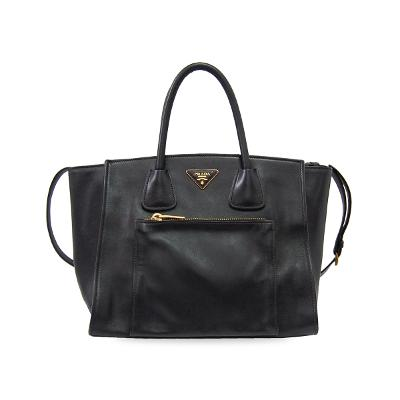 twins pocket shopper bag black
